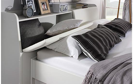 rauch bett rostock mit stauraum kopfteil bettkasten und stoffboxen. Black Bedroom Furniture Sets. Home Design Ideas