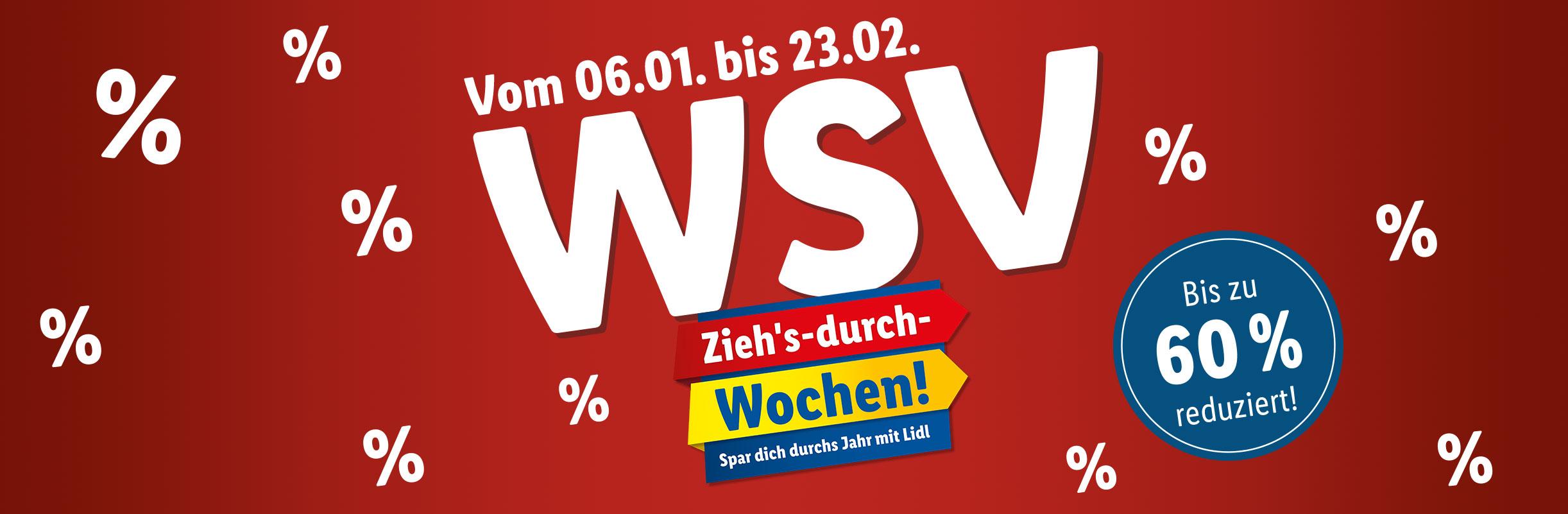 Ab Montag, 14.01. – Jetzt beim WSV sparen!