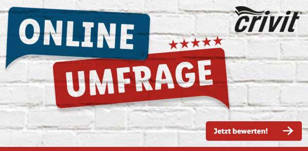 Crivit-Umfrage-Banner von Lidl.de - Jetzt teilnehmen