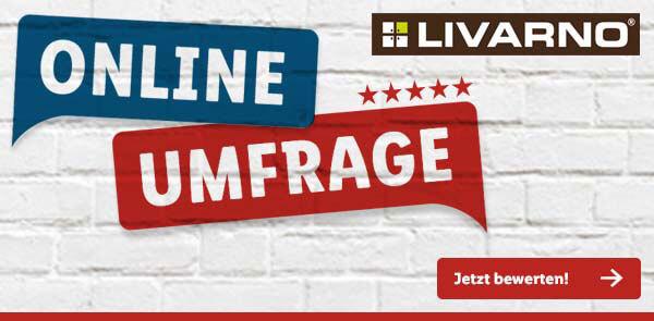 Livarno-Umfrage-Banner von Lidl.de - Jetzt teilnehmen