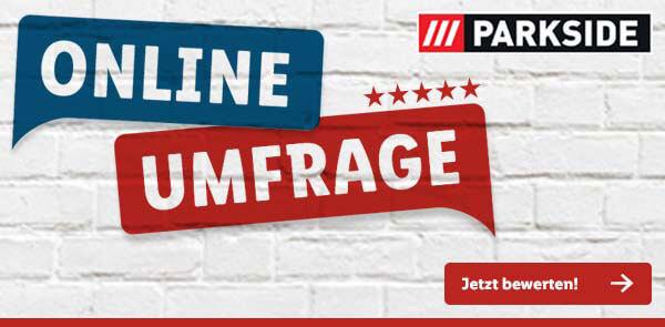 Parkside-Umfrage-Banner von Lidl.de - Jetzt teilnehmen