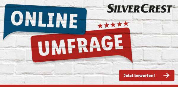 Silvercrest-Umfrage-Banner von Lidl.de - Jetzt teilnehmen