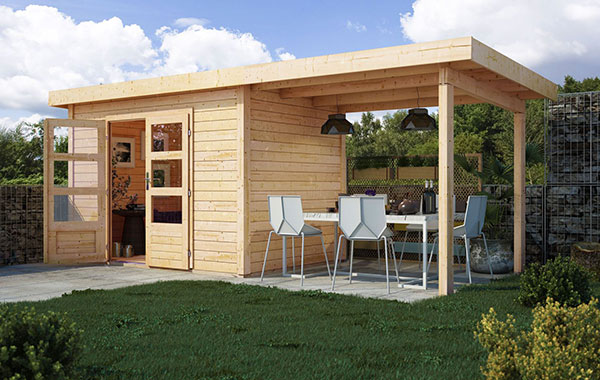 Karibu Gartenhaus Trundholm 3 Pultdach Inklusive Buntbartschloss Und Schleppdach Lidl De