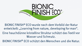 bionic finish eco mit infotext