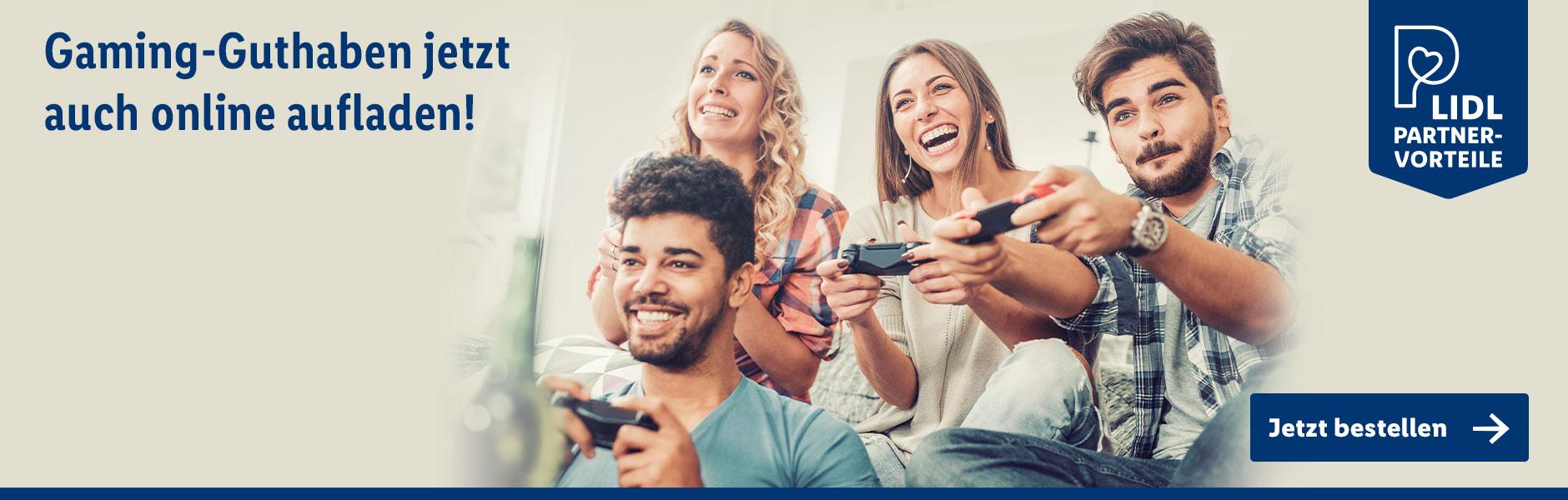 Jetzt Gaming-Guthaben online aufladen!