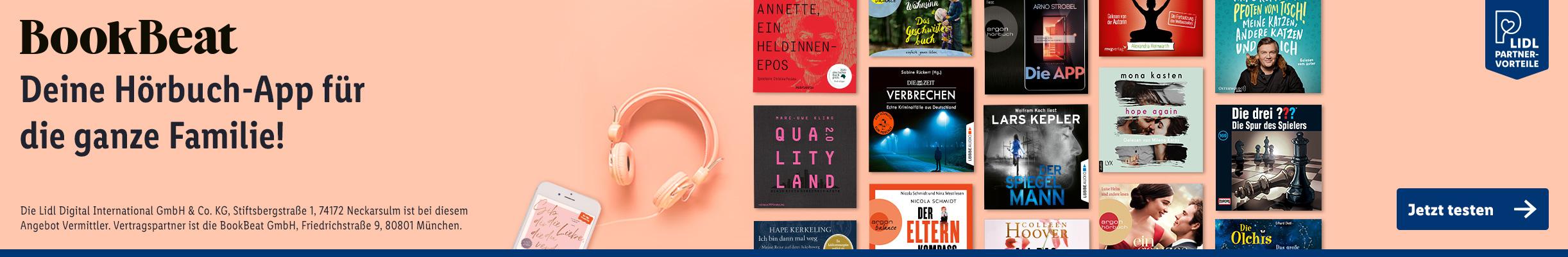 BookBeat - Deine Hörbuch-App! Jetzt 1 Monat gratis testen